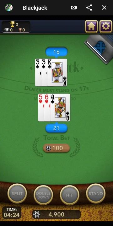 blackjack facebook game