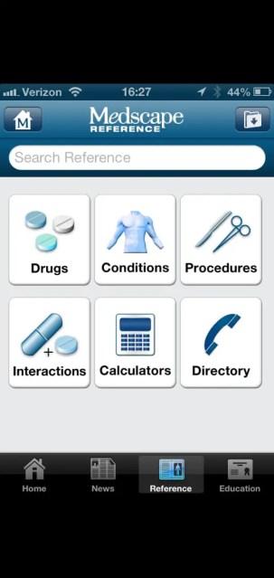 mediscape app interface