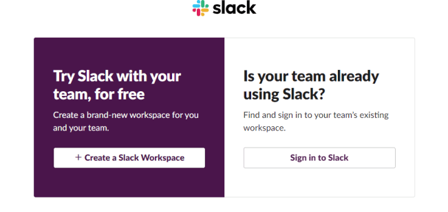 slack to work from home