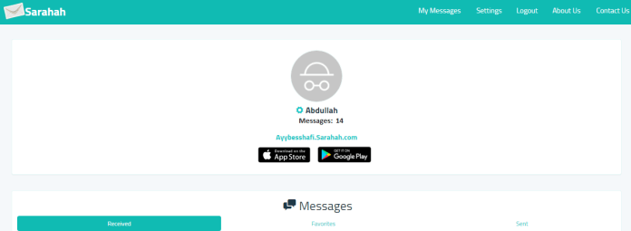 Download Sarahah on Windows Mobile
