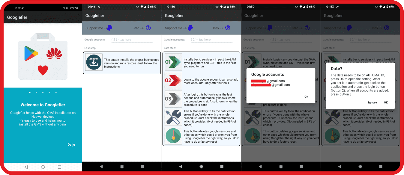 Install Google Apps on Huawei or Honor smartphone