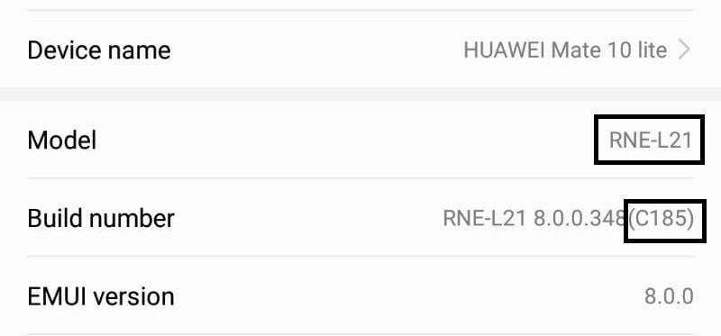 Revert an update by downgrade firmware on Huawei Phone