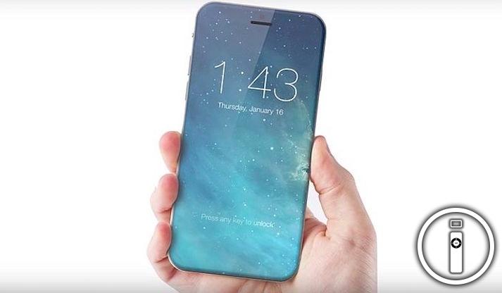 iPhone 8 mostrato per intero con un mockup