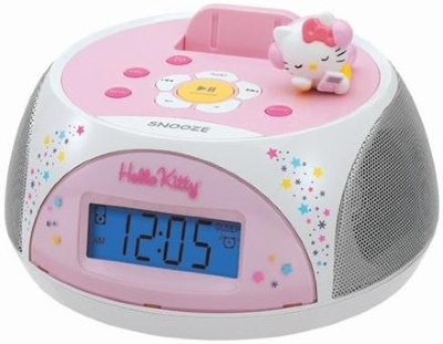 Hello Kitty iPod docking station / stereo clock