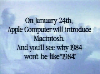 1984 Apple announced the First Macintosh