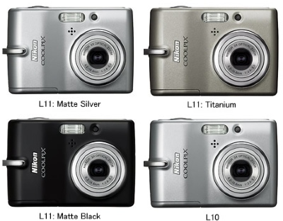 Nikon CoolPix L10/L11 Digital Cameras