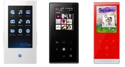 Samsung YP-P2, YP-S5, YP-T10