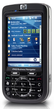 HP iPAQ 600 Series Business Navigator