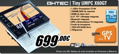 AHTEC X60GT Tiny UMPC