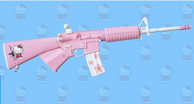 Hello Kitty AR-15 Rifle