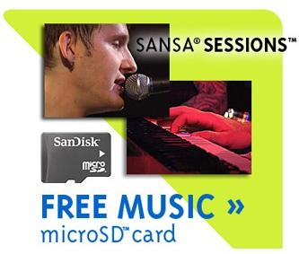 SanDisk Sansa Sessions microSD card Music Pack