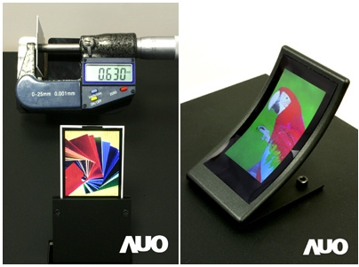AU Optronics Curved Display, Ultra Thin Screen and Multi-Touch Display