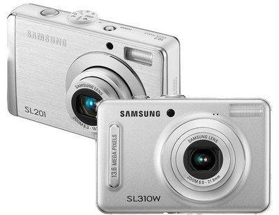 Samsung SL310W and SL201 Digital Cameras