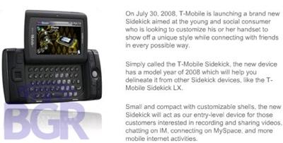 T-Mobile Sidekick 2008 Gekko