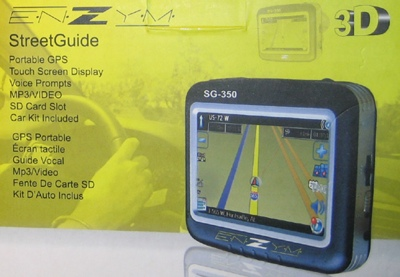 Enzym StreetGuide SG-350 and SG-430 GPS Navigation Devices