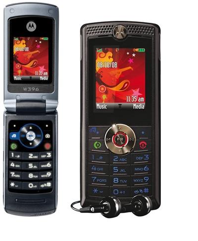 Motorola W388 and W396 Mobile Phones