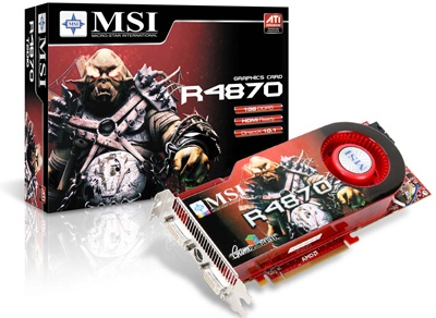 MSI R4870-T2D1G Graphics Card with 1GB DDR5
