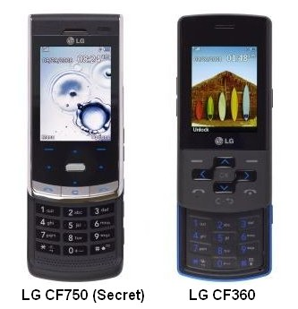 LG CF750 and CF360 Sliders for AT&T