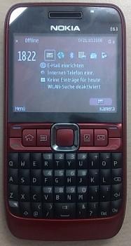 Nokia E63 leaked shot