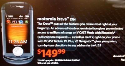 Verizon Motorola ZN4 Krave