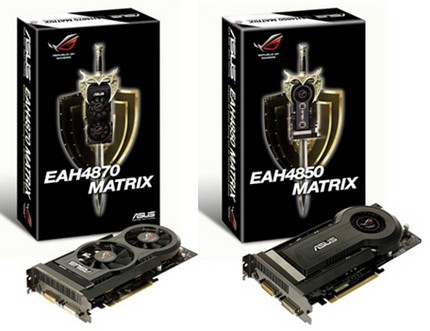 Asus ROG EAH4870 MATRIX and EAH4850 MATRIX Graphic Cards