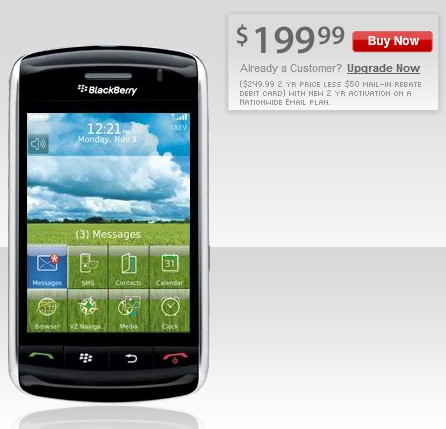 Verizon BlackBerry Storm 9530 Touch Smartphone