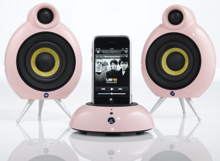 Scandyna Speakers Pink Dock Pack for iPod