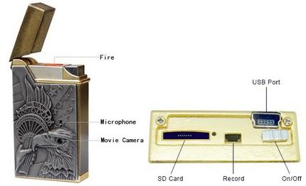Ajoka AJ-LTDVR01 Real Lighter DVR Spy Camera