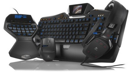 Logitech G19 Keybaord, G35 Headset and G9x Laser Mouse for Gamers