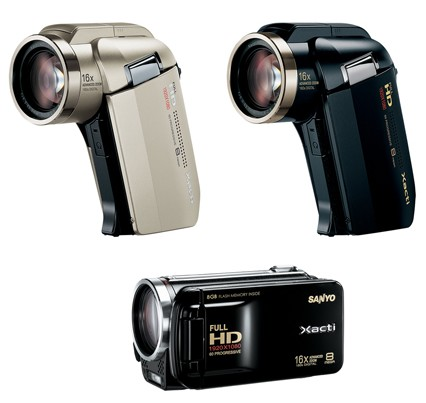Sanyo Xacti DMX-HD2000 and DMX-FH11 Full HD Camcorders
