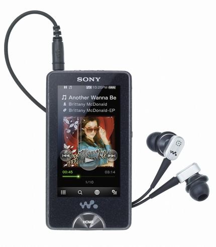 Sony Walkman NWZ-X1000 with OLED Touchscreen and WiFi