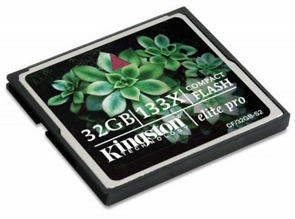 Kingston Elite Pro 133X 32G CompactFlash Card