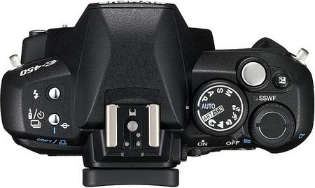 Olympus E-450 DSLR top