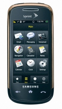Sprint Samsung Instinct s30 touchscreen phone