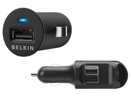 Belkin Micro Auto Charger and Dual Auto Charger
