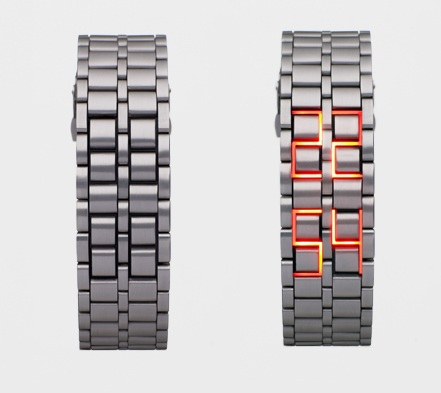 Faceless LED Watch hides the time