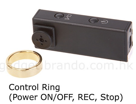 Button Spy Camera with Ring Controller