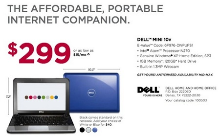Dell Inspiron Mini 10v Netbook Spotted