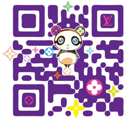 Louis Vuitton and Takashi Murakami Stylized QR Code