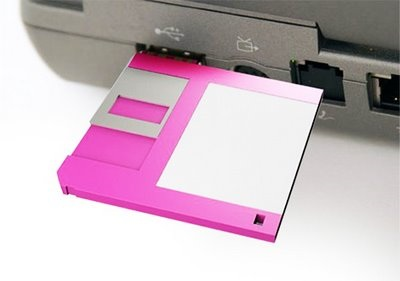 3.5-inch Floppy USB Flash Drive in laptop