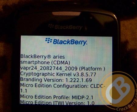 BlackBerry Aries CMDA Smartphone