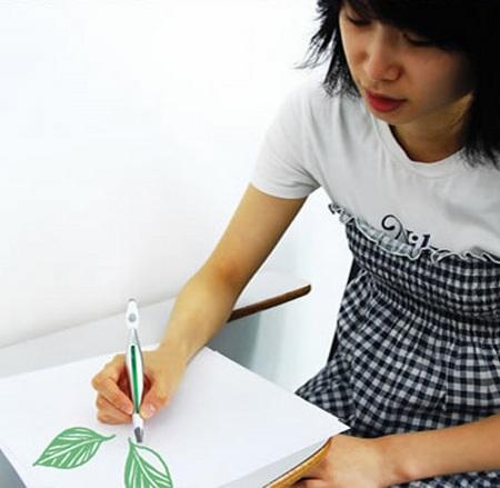 Color Picker Pen Concept green