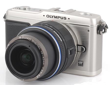 Olympus E-P1 PEN Digital Compact DSLR angle