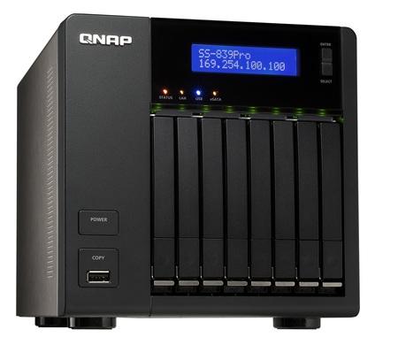 QNAP SS-839 Pro Turbo NAS has 8 bays