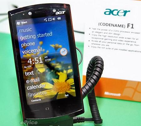 Acer F1 SnapDragon Windows Mobile 6.5 Phone