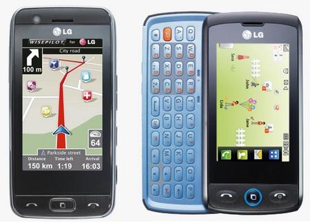 LG GW520 and GT505 Social Phones
