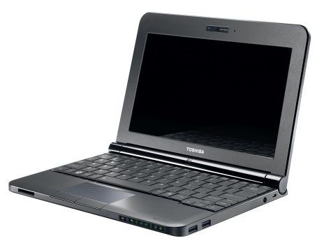 Toshiba NB205 Netbook Black Open