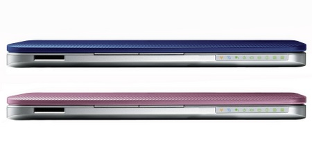 Toshiba NB205 Netbook Pink and Blue