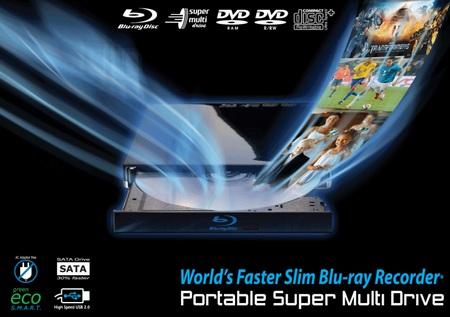 AmexDigital BDR-T28 Portable Blu-ray Burner for Mac Notebooks