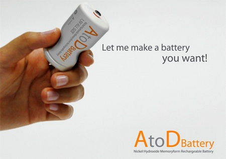 AtoD Rechargeable Battery fits all slots 3